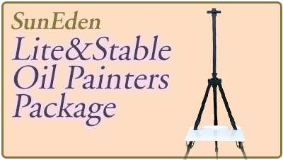 Sun Eden Plein Air Light and Stable Oil Painter's Package